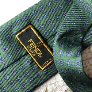 FENDI men's silk neck tie